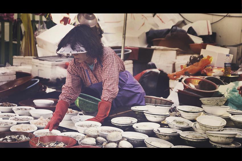 Marché aux poissons de Jagalchi, Busan, Corée du Sud