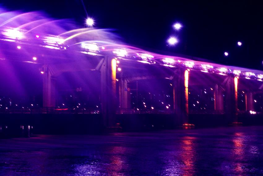 Banpo Bridge illuminé, Seoul