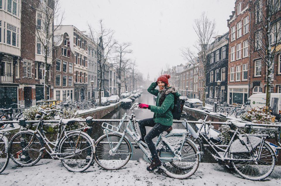 Un étonnant week-end à Amsterdam, sous de gros flocons de neige !