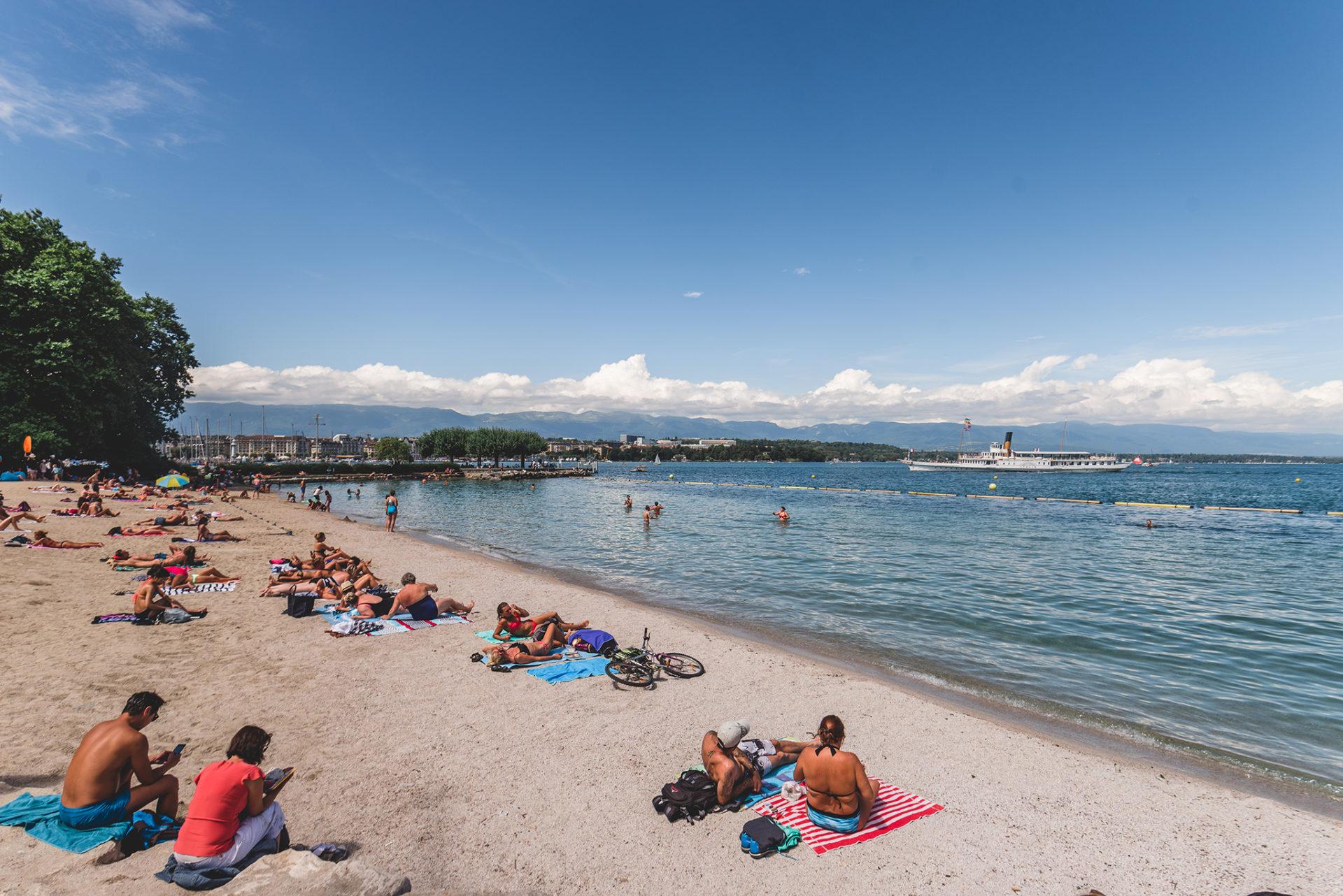 Baby plage, Genève