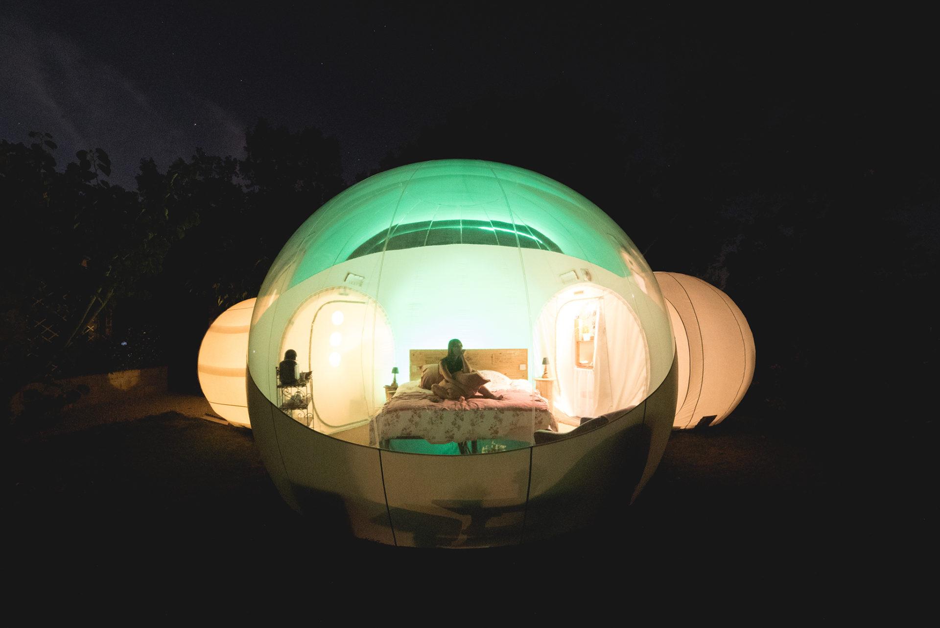 nuit en bulle
