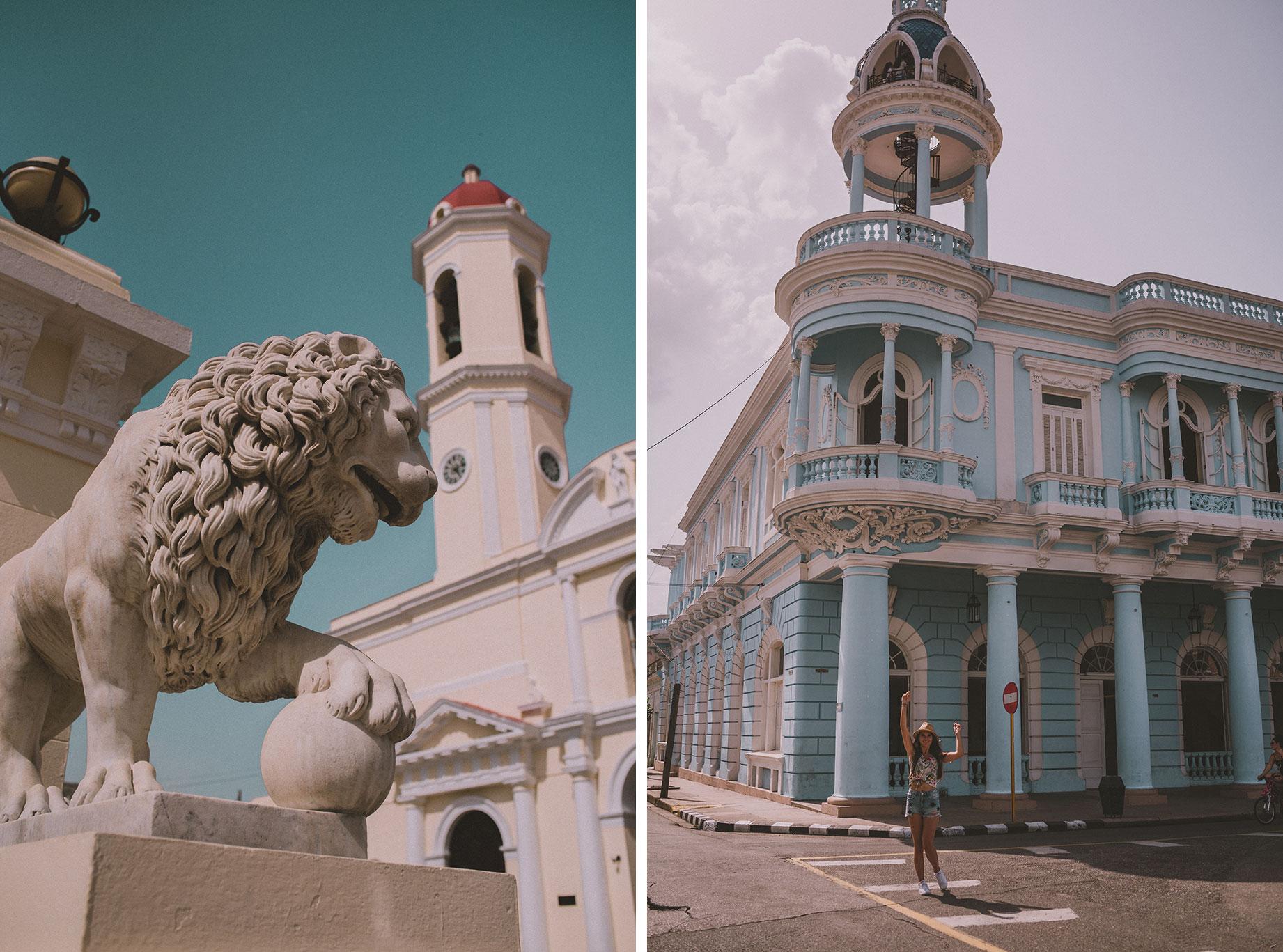 Dans les rues de la ville de Cienfuegos à Cuba