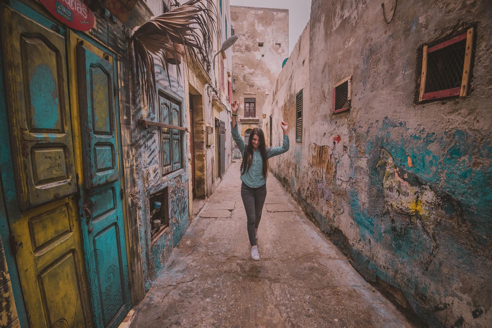 Les ruelles pavées d'Essaouira