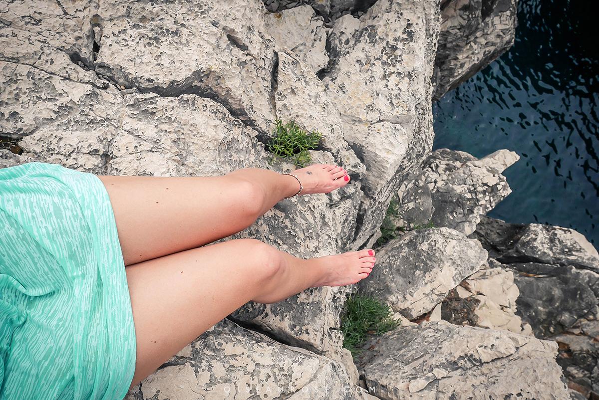Lokrum-Dubrovnik-pieds