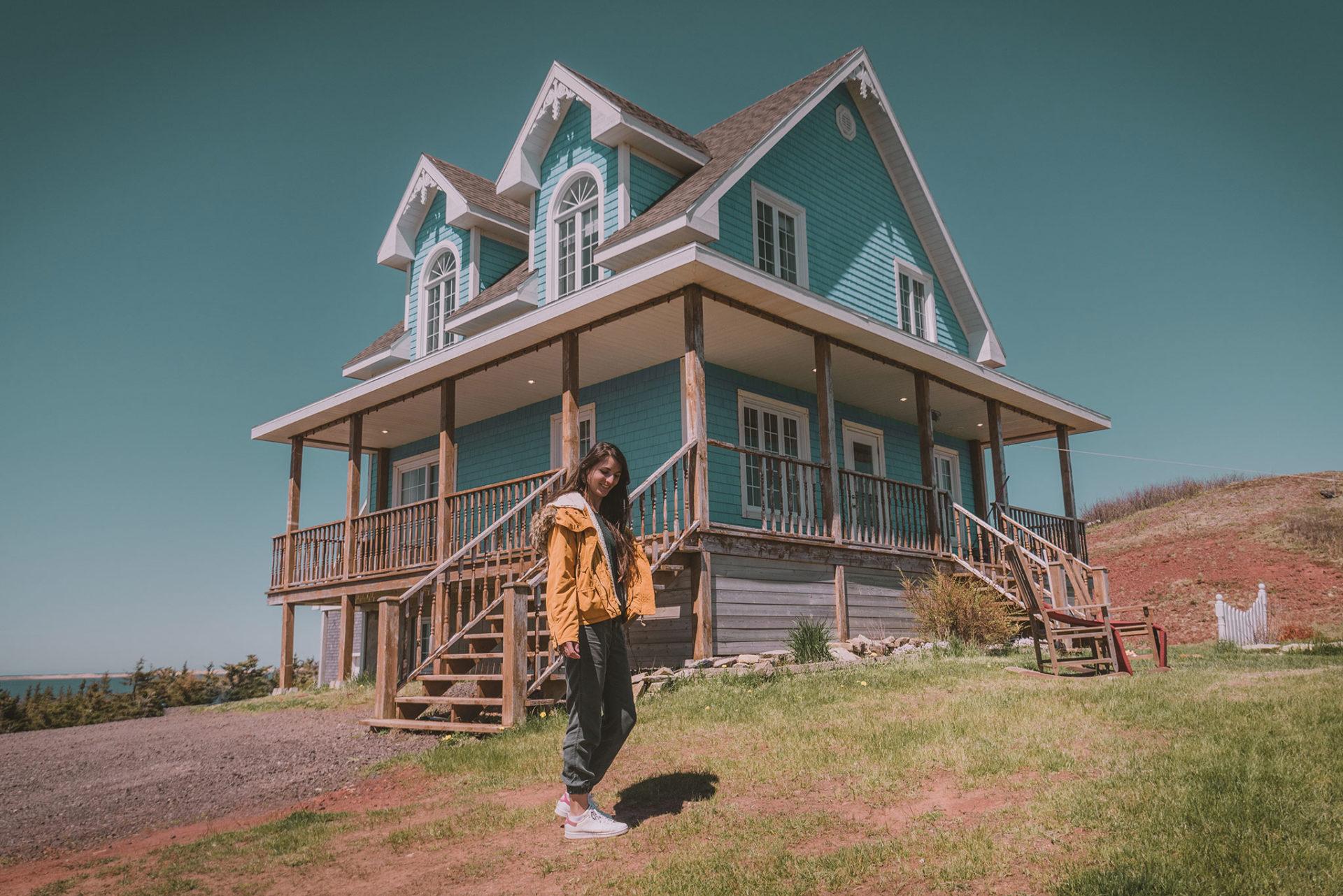 Maisons colorées des îles de la madeleine