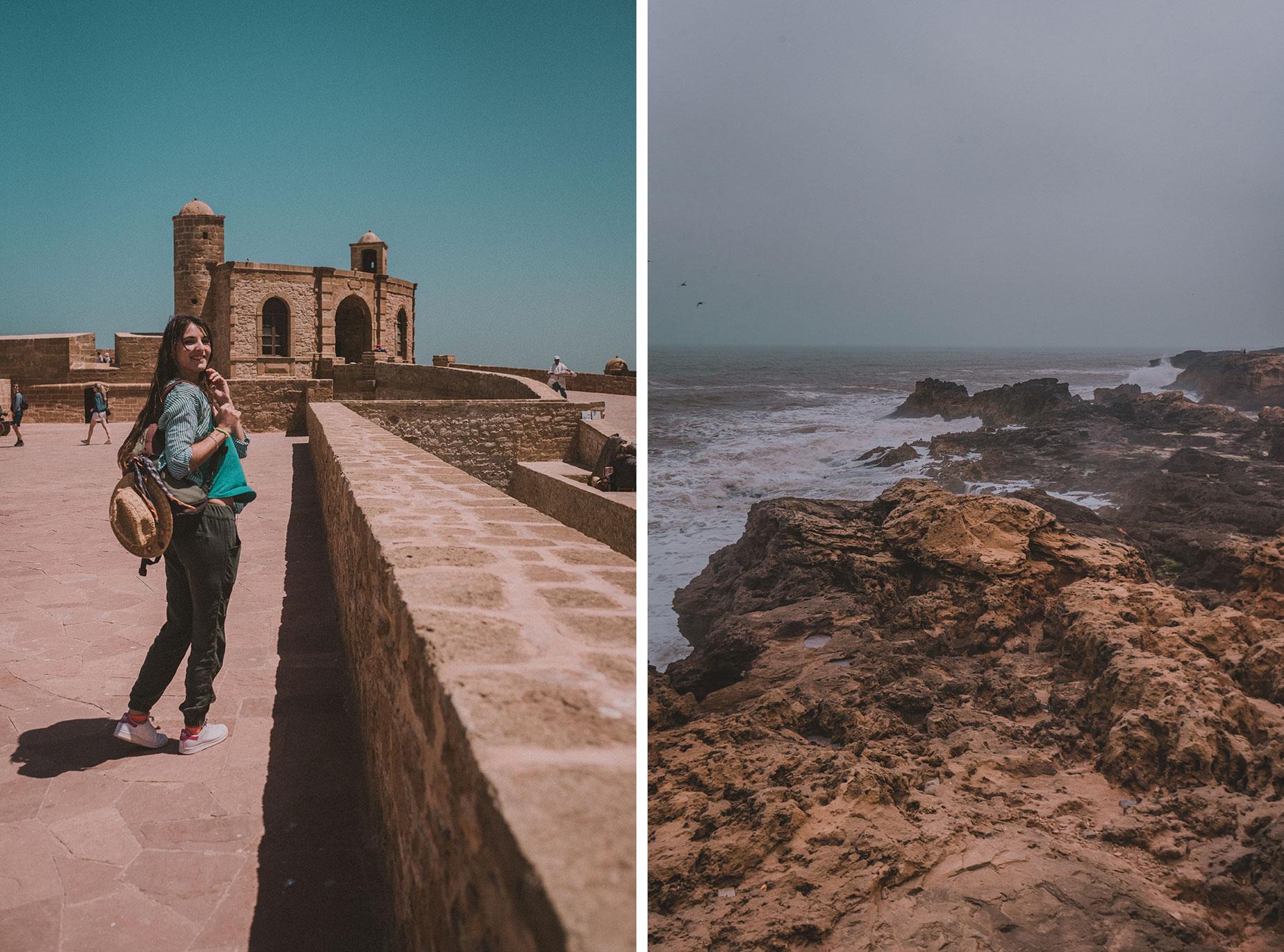 Promenade le long des remparts à Essaouira (anciennement Mogador)