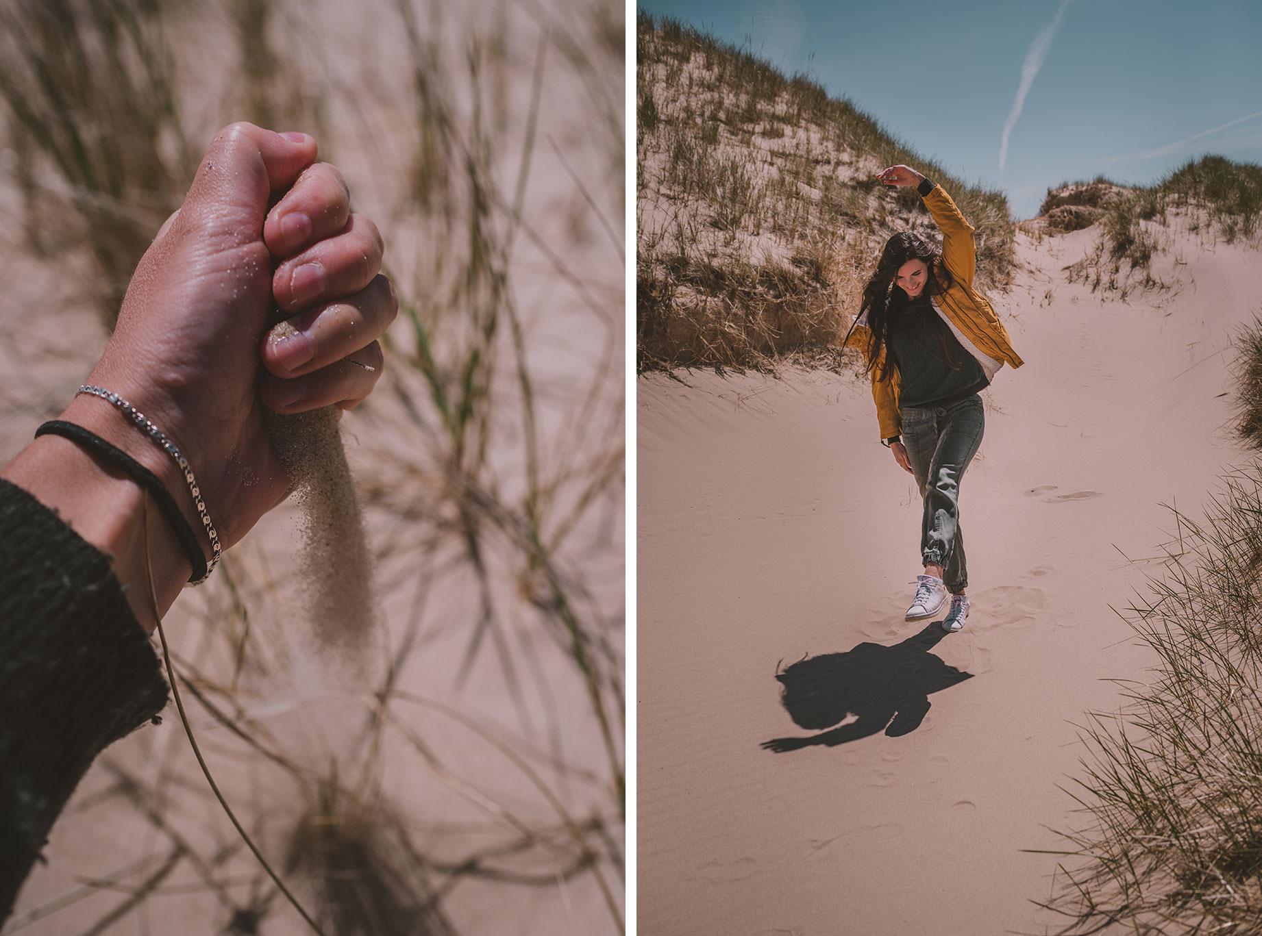 Dunes de sable aux îles de la madeleine