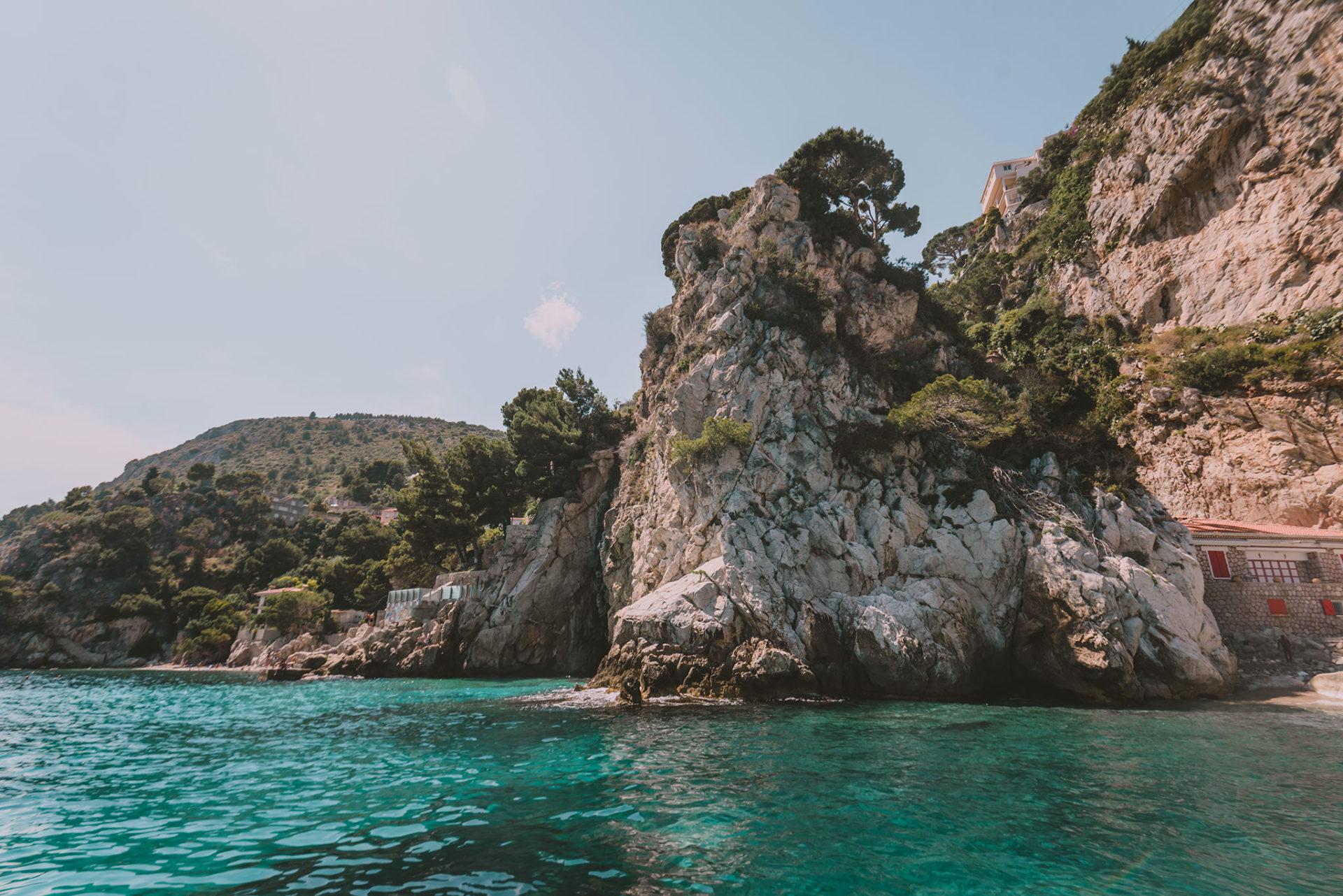 La côte d'Azur en voilier
