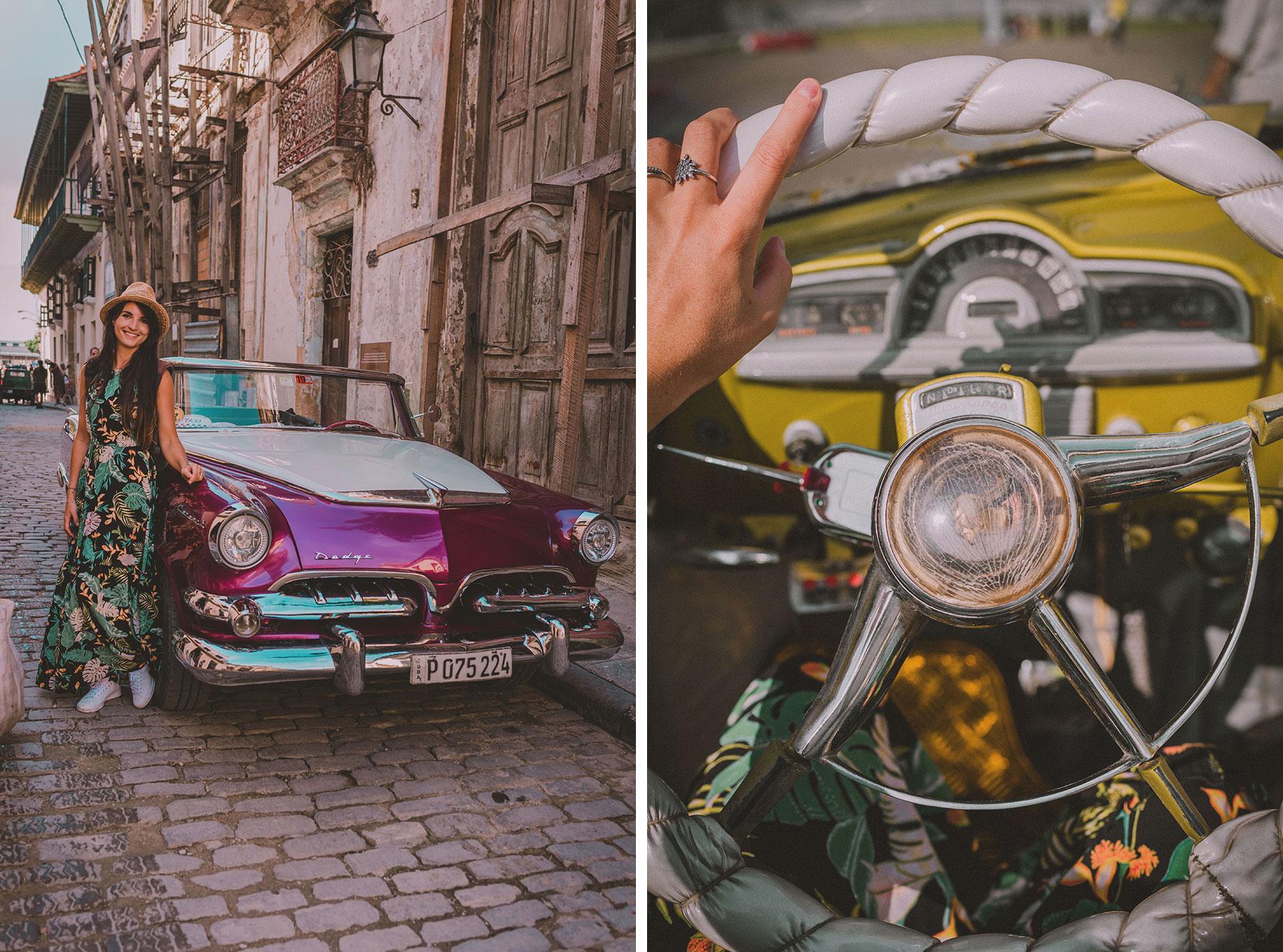 Tour en voiture ancienne à Cuba