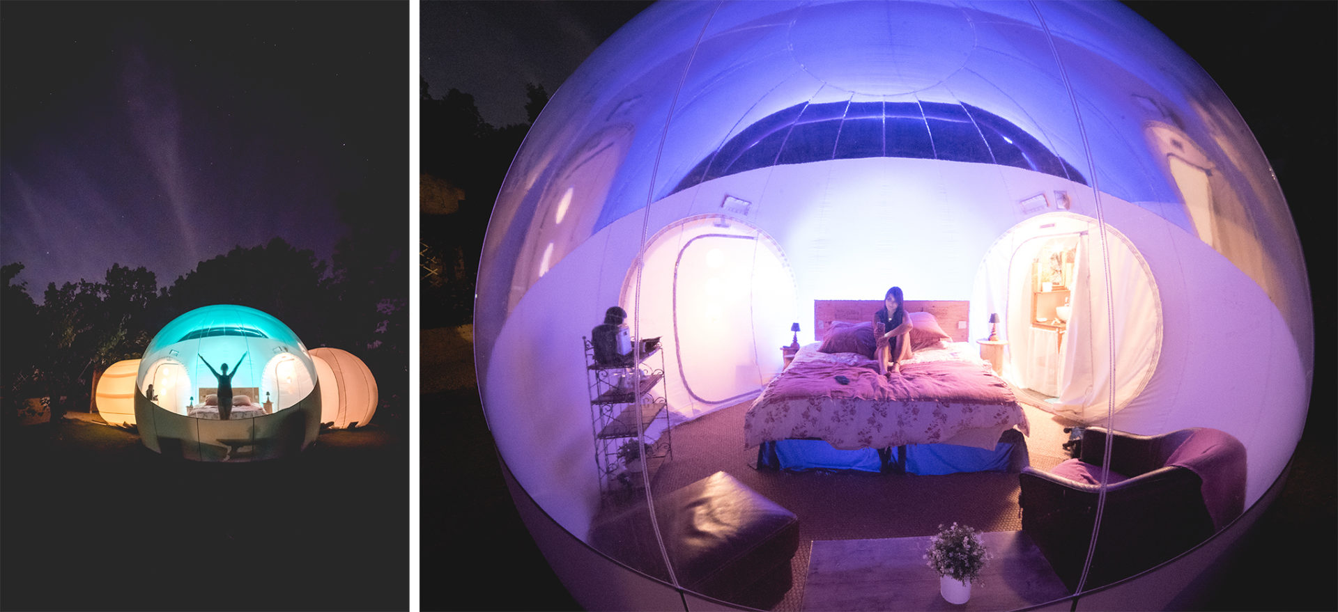 dormir dans une bulle g ante une exp rience in dite. Black Bedroom Furniture Sets. Home Design Ideas