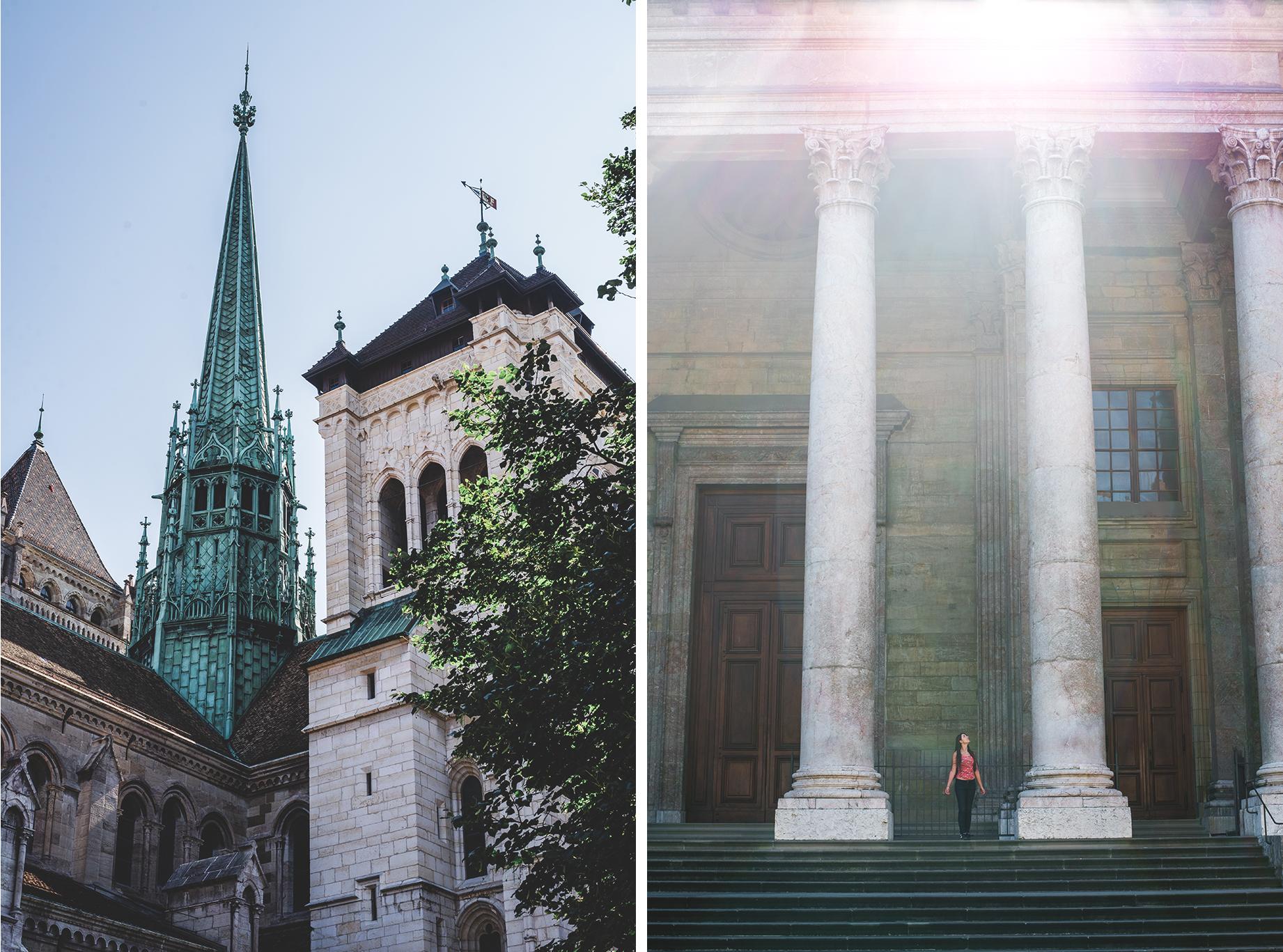 cathédrale saint-pierre à Genève, en Suisse