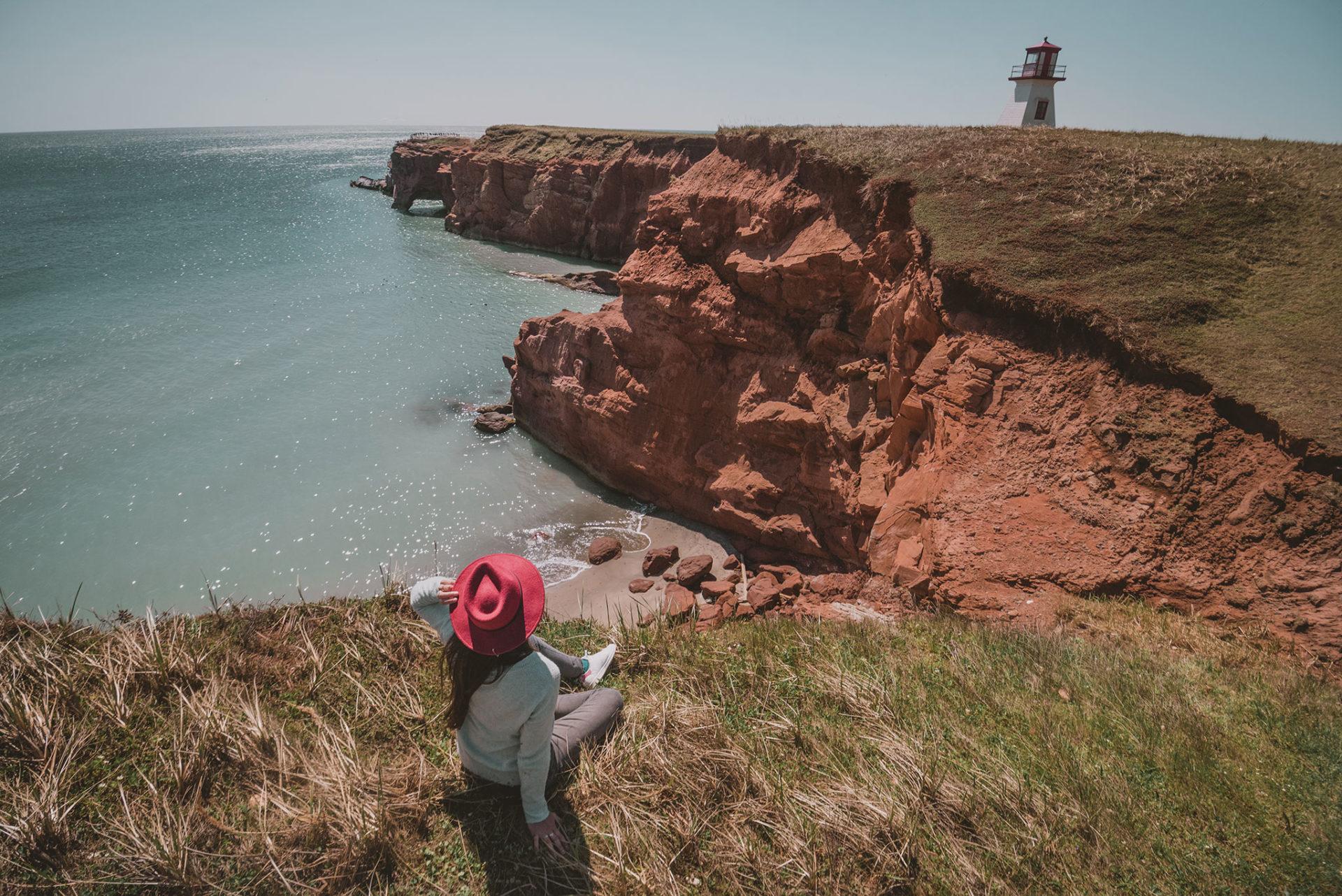Vue sur les phares aux îles de la madeleine