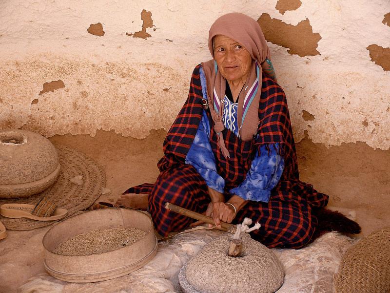 Troglodytes à Matmata en Tunisie