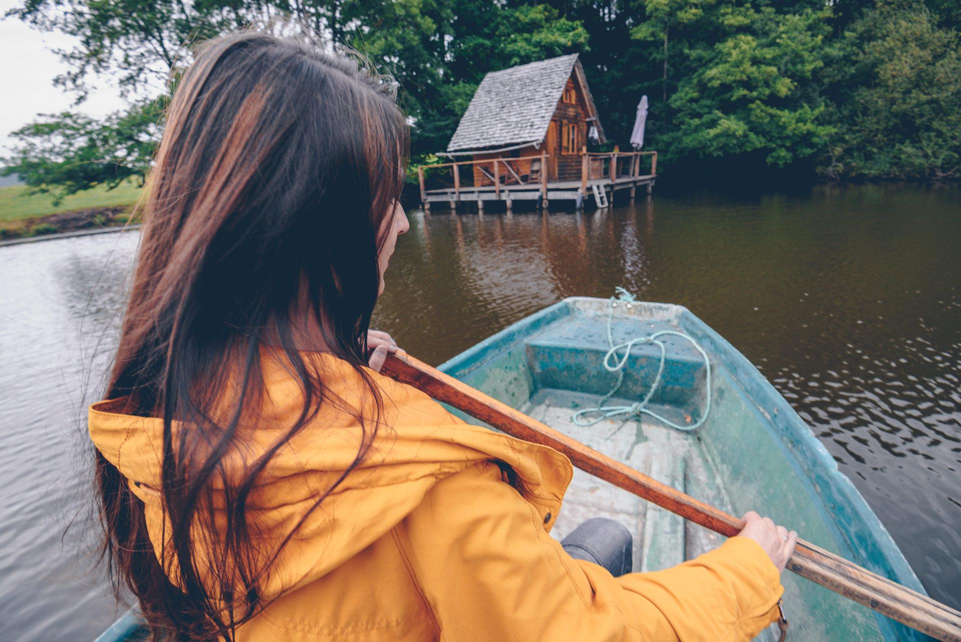 week-end dans la Nièvre cabane sur l'eau
